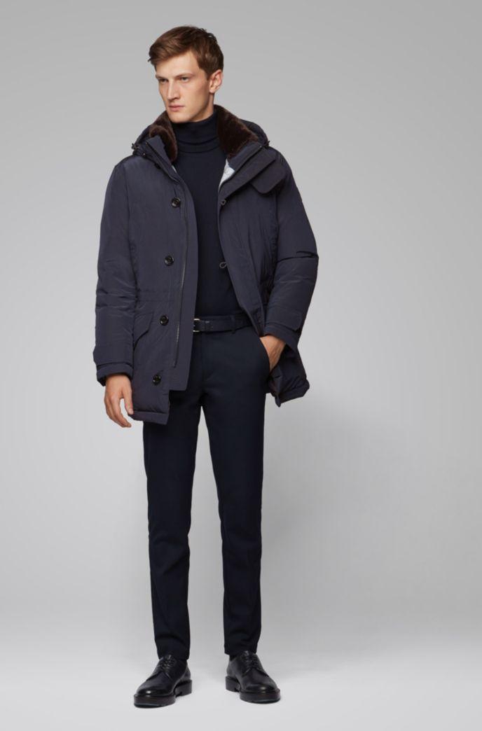 Regular-fit parka jacket in water-repellent fabric