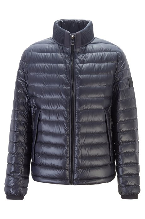 Regular-fit water-repellent jacket with stand collar, Dark Blue
