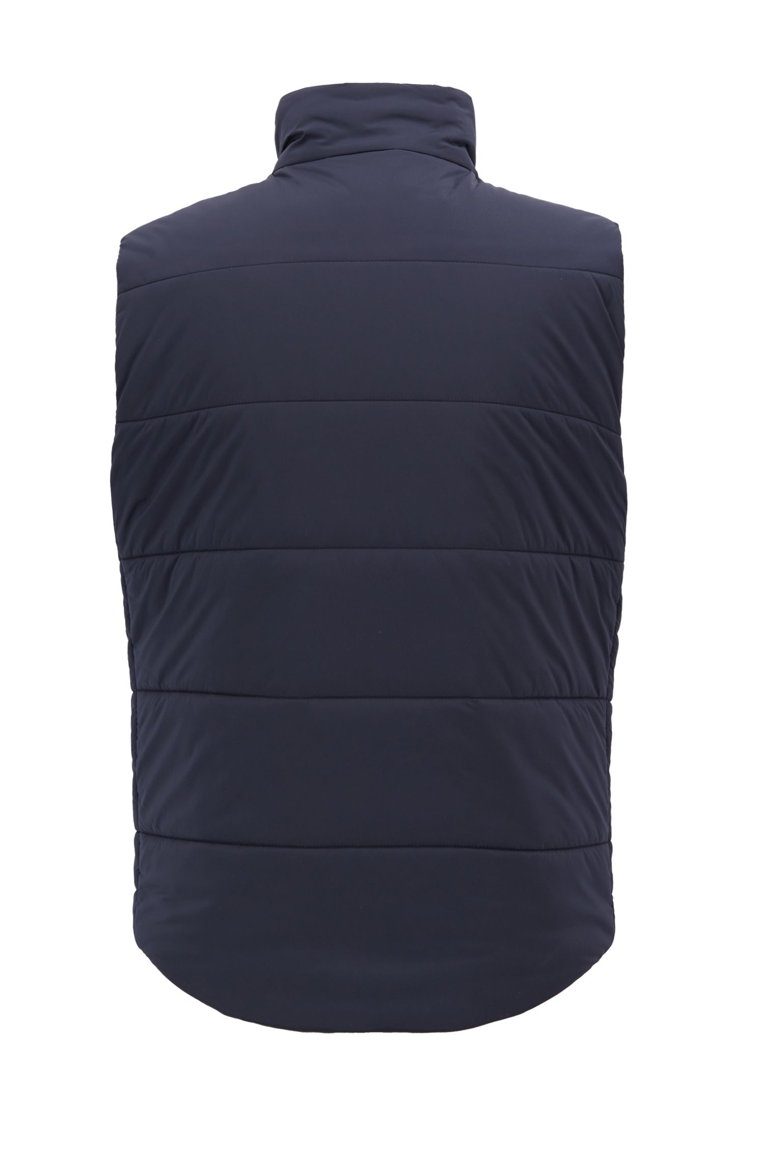 Zipper-through gilet in water-repellent stretch fabric, Open Blue