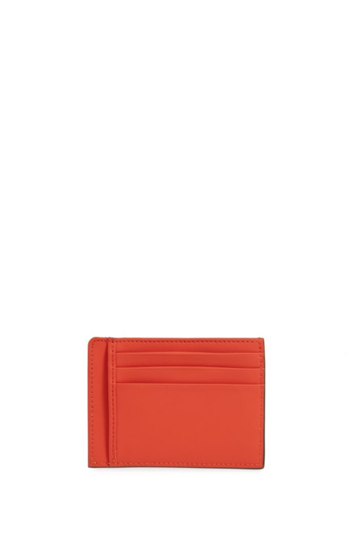 Signature Collection card holder in rubberized Italian leather