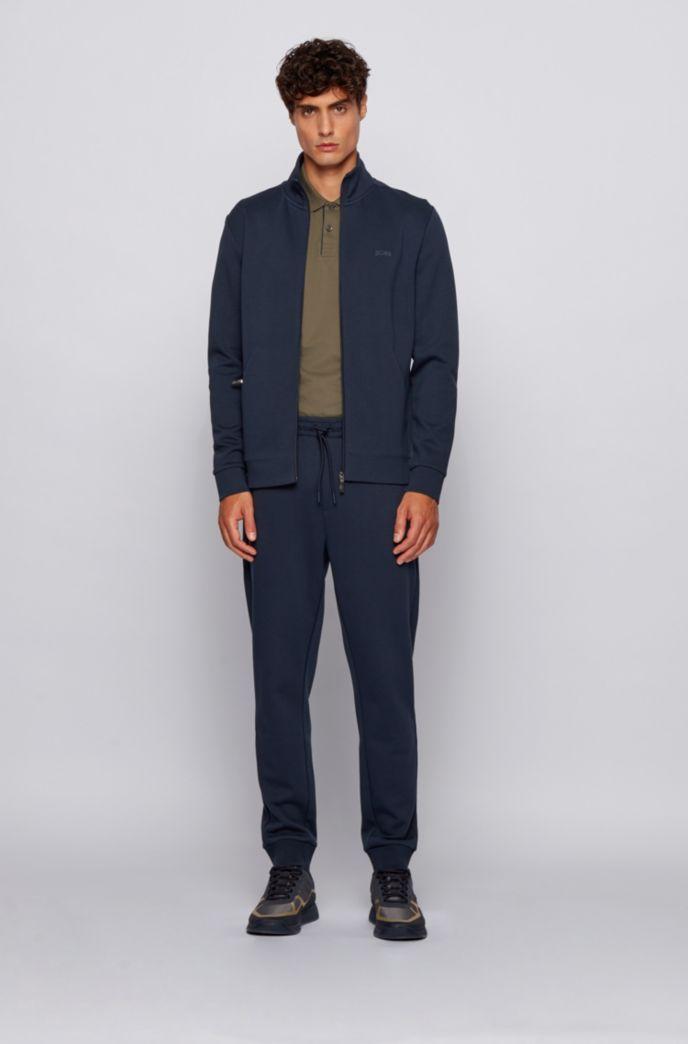 Polo Slim Fit en maille piquée stretch à logo incurvé
