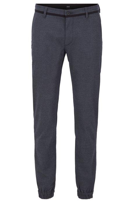 Cuffed slim-fit pants with Coolmax finish, Dark Blue