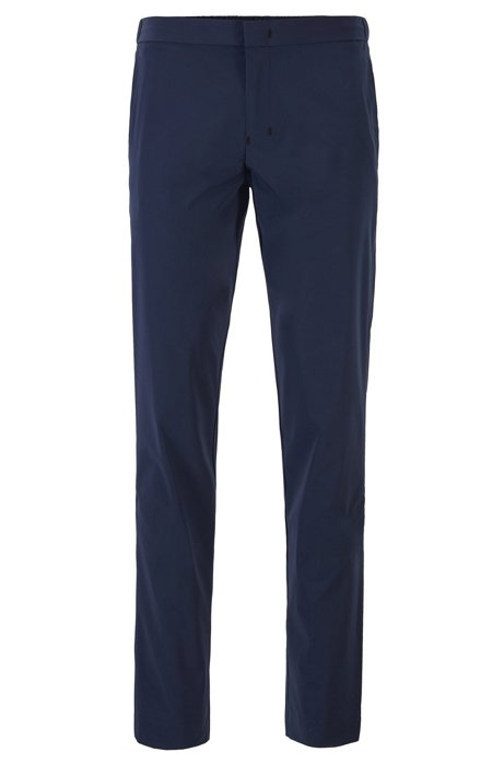 Slim-fit pants in anti-wrinkle fabric, Dark Blue