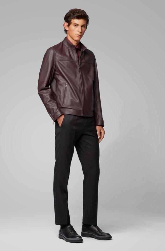 Regular-fit blouson jacket in nappa leather