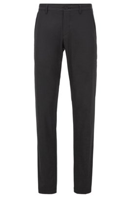 Slim-fit pants in moisture-wicking fabric, Black