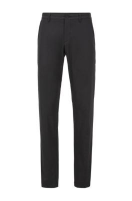 Slim-fit pants in moisture-wicking fabric, Black