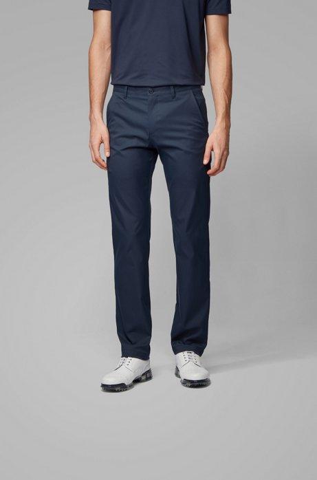 Slim-fit pants in moisture-wicking fabric, Dark Blue