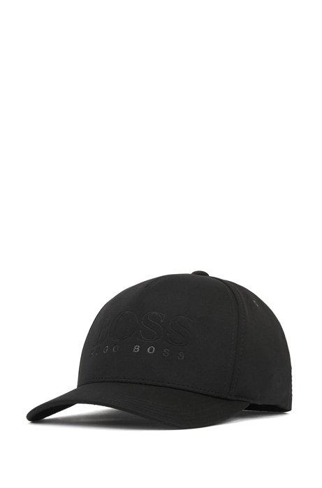 Logo jersey cap with flex-fit headband, Black