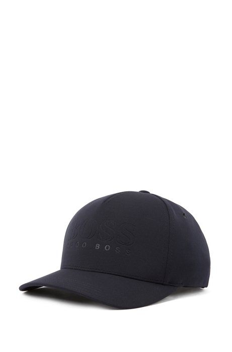 Logo jersey cap with flex-fit headband, Dark Blue