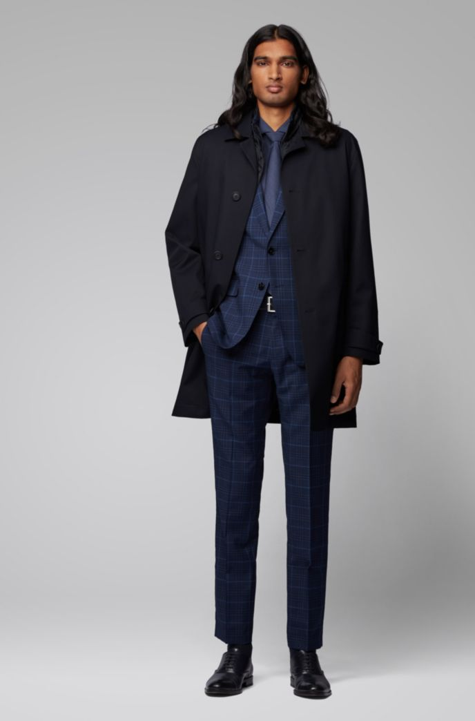Three-in-one automobile coat with detachable quilted undershirt
