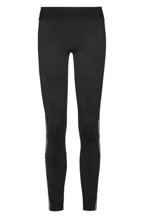 Extra-slim-fit leggings with logo tape, Black