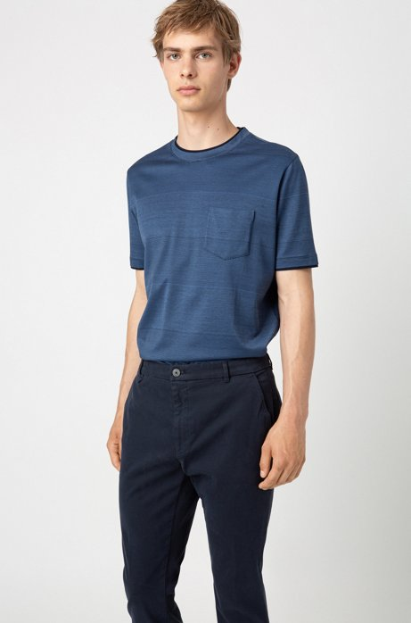 Extra-slim-fit pants in stretch cotton, Dark Blue