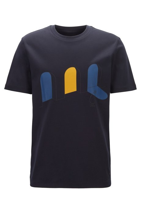 Limited Edition Konstantin Grcic T-shirt with city artwork, Dark Blue