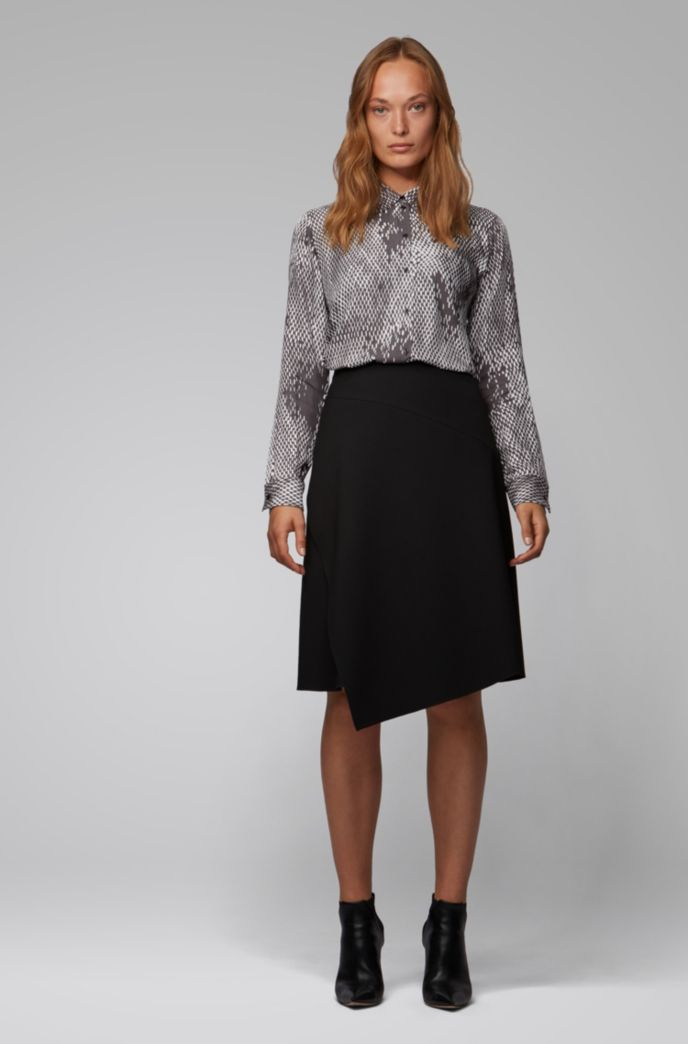 Regular-fit blouse with exclusive snake print