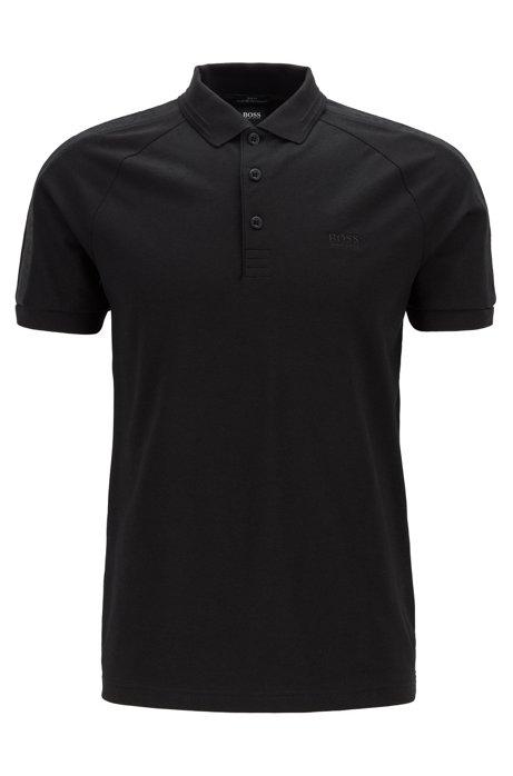 S.Café® slim-fit polo shirt with logo tape details, Black