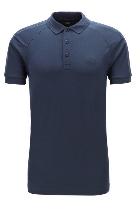 S.Café® slim-fit polo shirt with logo tape details, Dark Blue