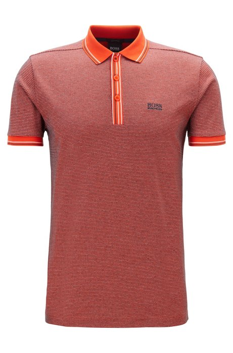 Regular-fit polo shirt in pure cotton, Pink