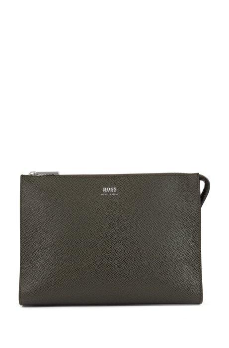 Signature Collection portfolio case in palmellato leather, Dark Green