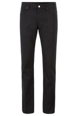 Slim-fit jeans in comfort-stretch woven denim, Black
