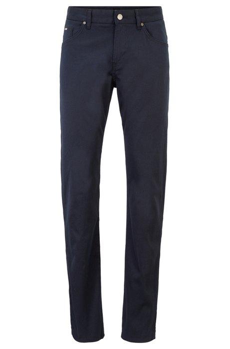 Slim-fit jeans in comfort-stretch woven denim, Dark Blue