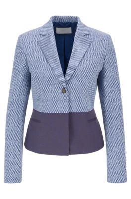 Regular-fit jacket with irregular chessboard pattern, Patterned