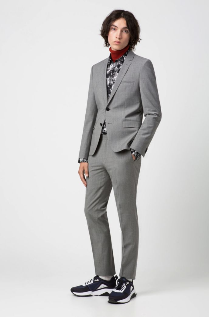 Extra-slim-fit jacket with two-way stretch