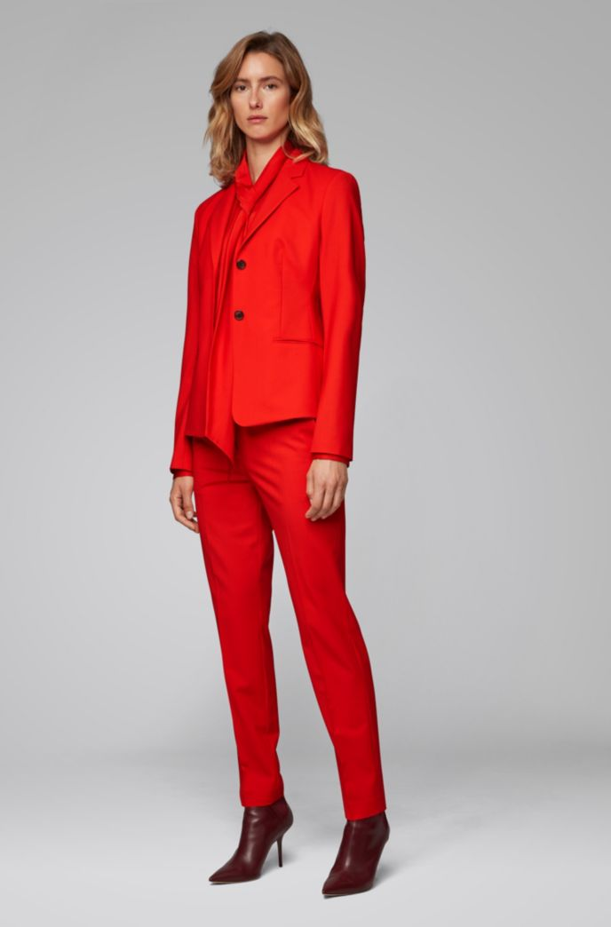 Regular-fit pants in Italian stretch-virgin-wool