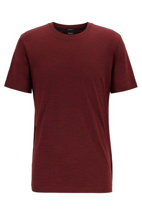 Regular-fit T-shirt in traceable Italian wool, Dark Red