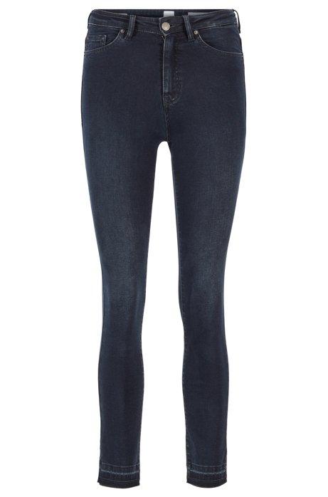 Skinny-fit jeans in dusty-blue super-stretch denim, Dark Blue