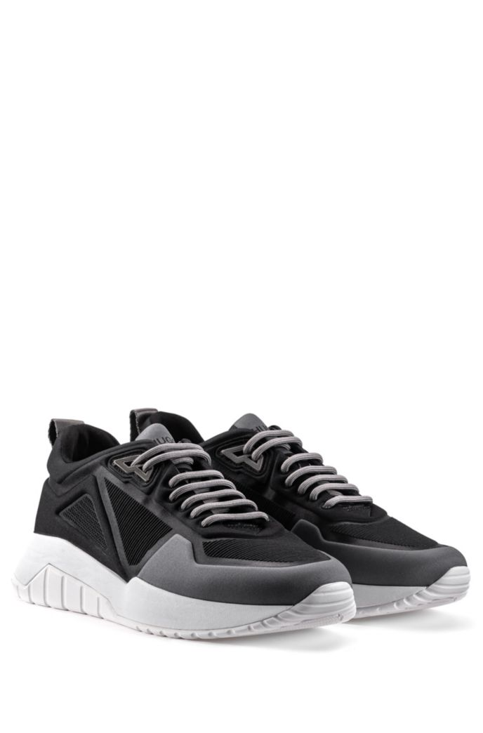 Low-top sneakers in embossed neoprene