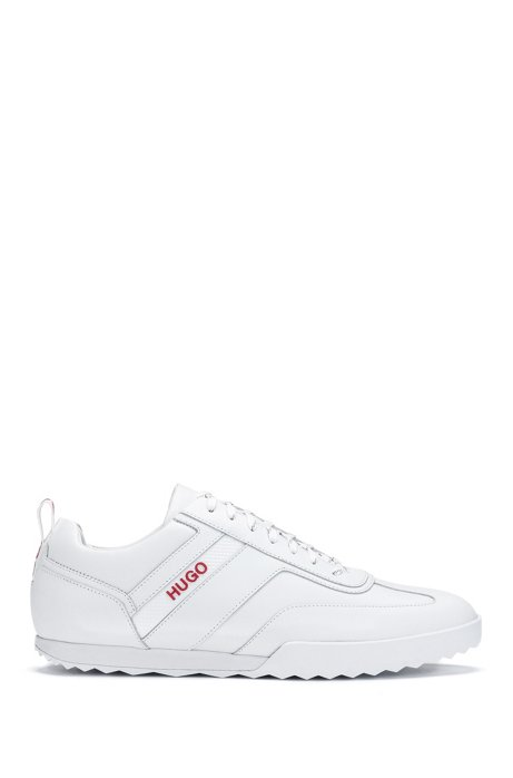 Low-top sneakers in nappa leather, White