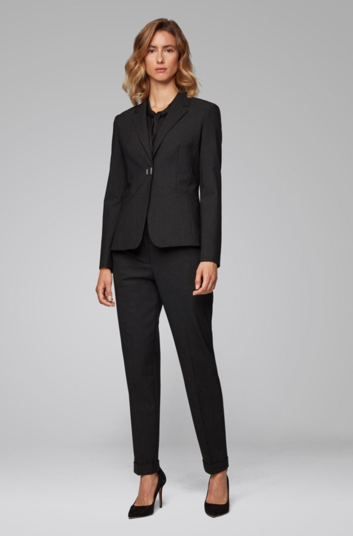 Relaxed-fit pants in pinstripe Italian fabric