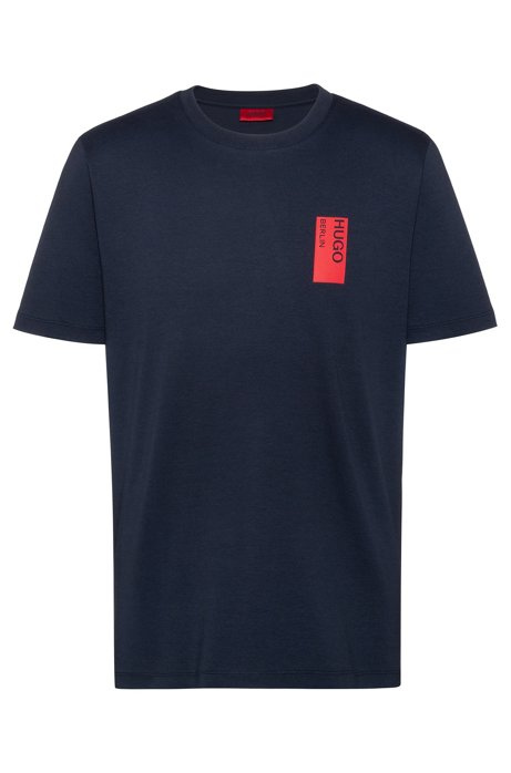 Relaxed-fit T-shirt in cotton with collection artwork, Dark Blue