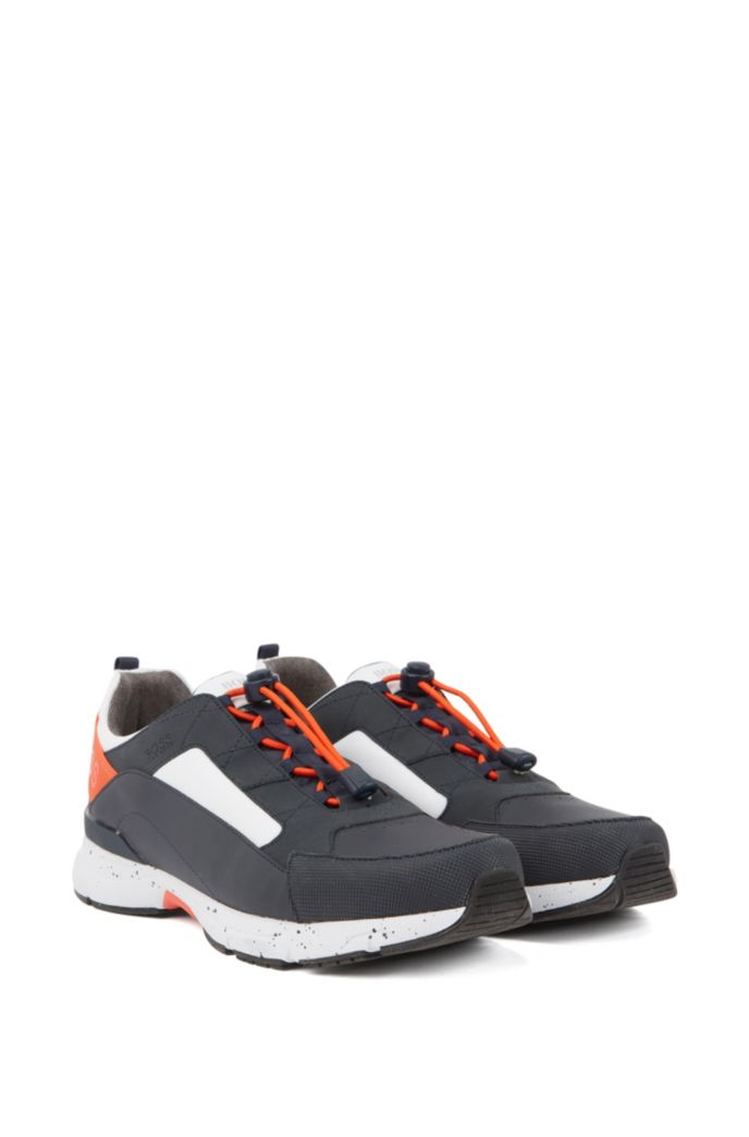 Chunky sneakers with hybrid uppers