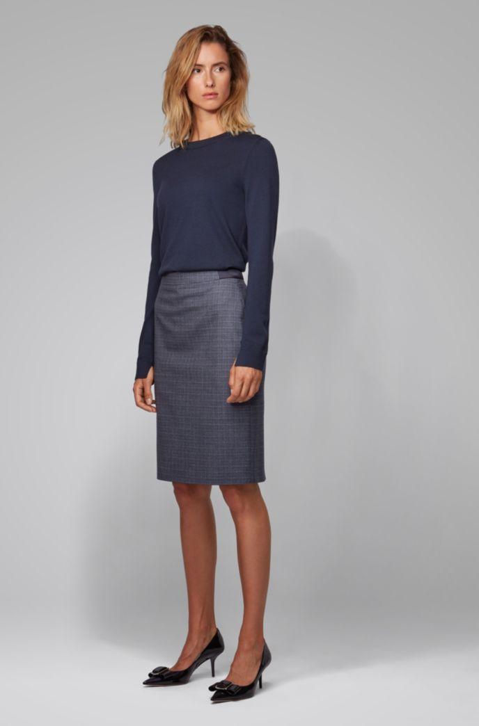 Slim-fit skirt in two-tone Italian wool