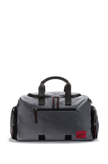 Holdall in Cordura® with logo details and shoe compartment, Dark Grey