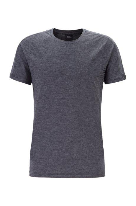 Slim-fit underwear T-shirt with moisture management, Black
