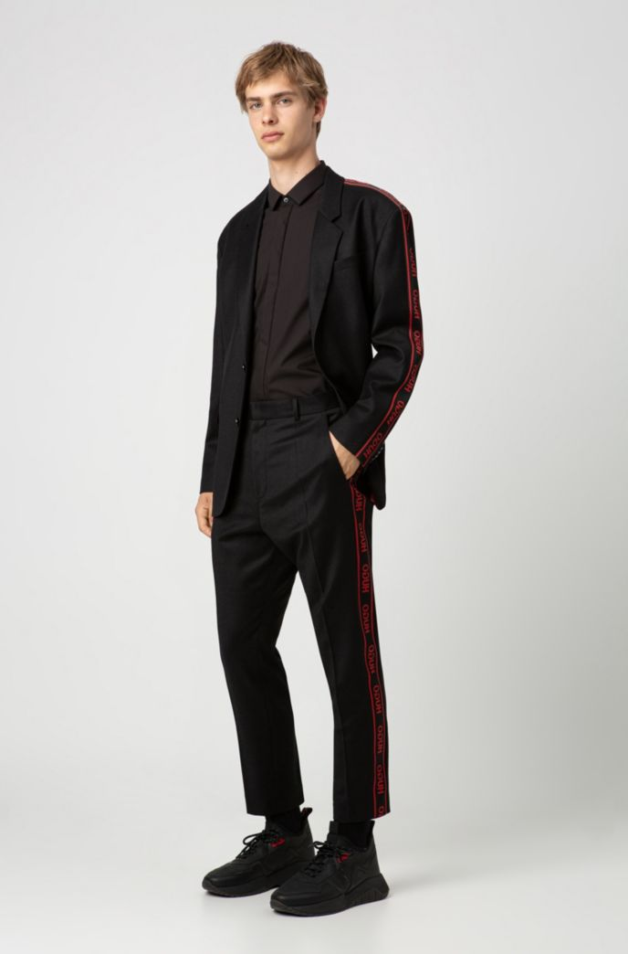 Extra-slim-fit shirt with contrast trims