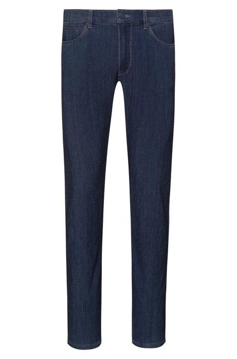 Skinny-fit jeans in dark-blue Italian denim, Dark Blue