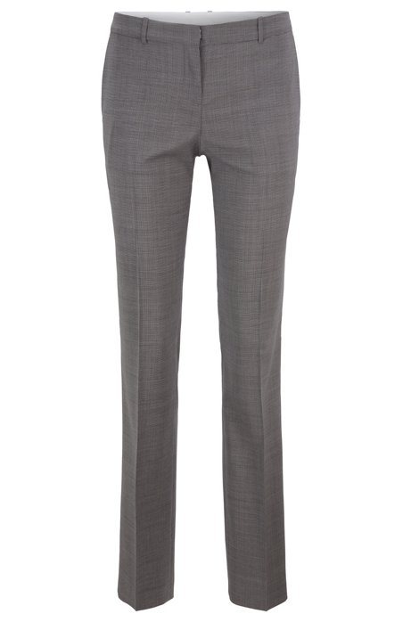 Regular-fit pants in Italian virgin wool, Patterned