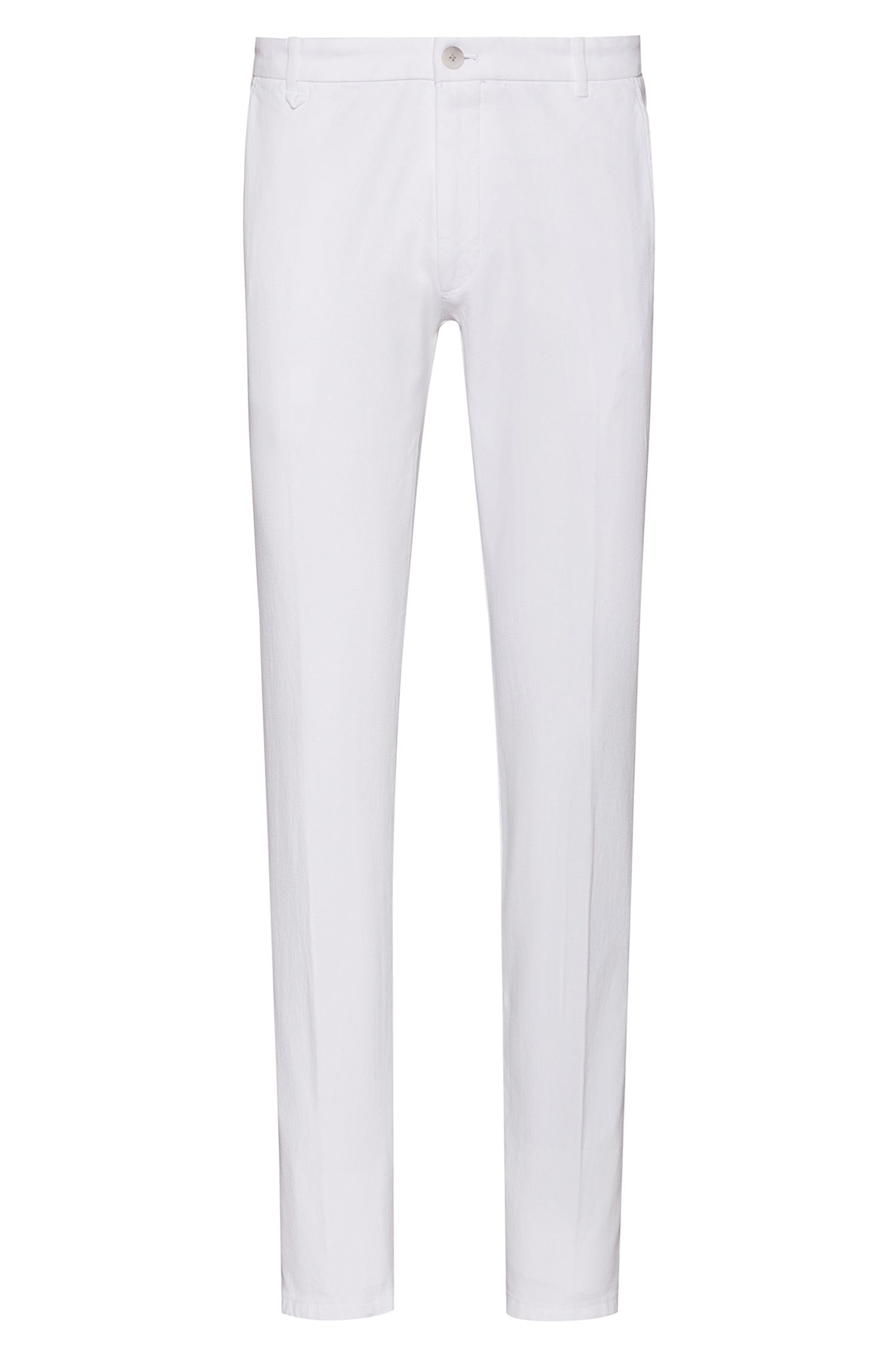 Extra-slim-fit chinos in stretch cotton, White