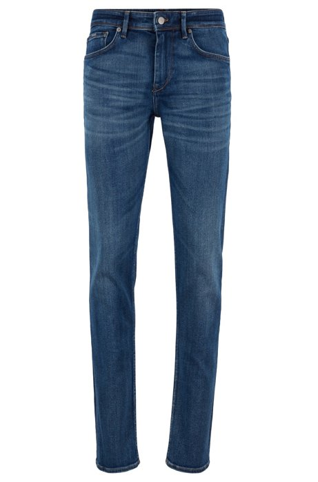 Extra-slim-fit jeans in Italian stretch denim, Blue