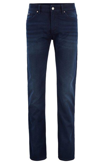 Slim-fit jeans in comfort-stretch denim, Dark Blue