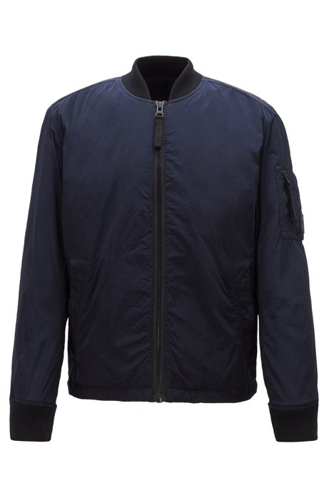 Lightweight jacket in lustrous fabric with PrimaLoft® padding, Dark Blue