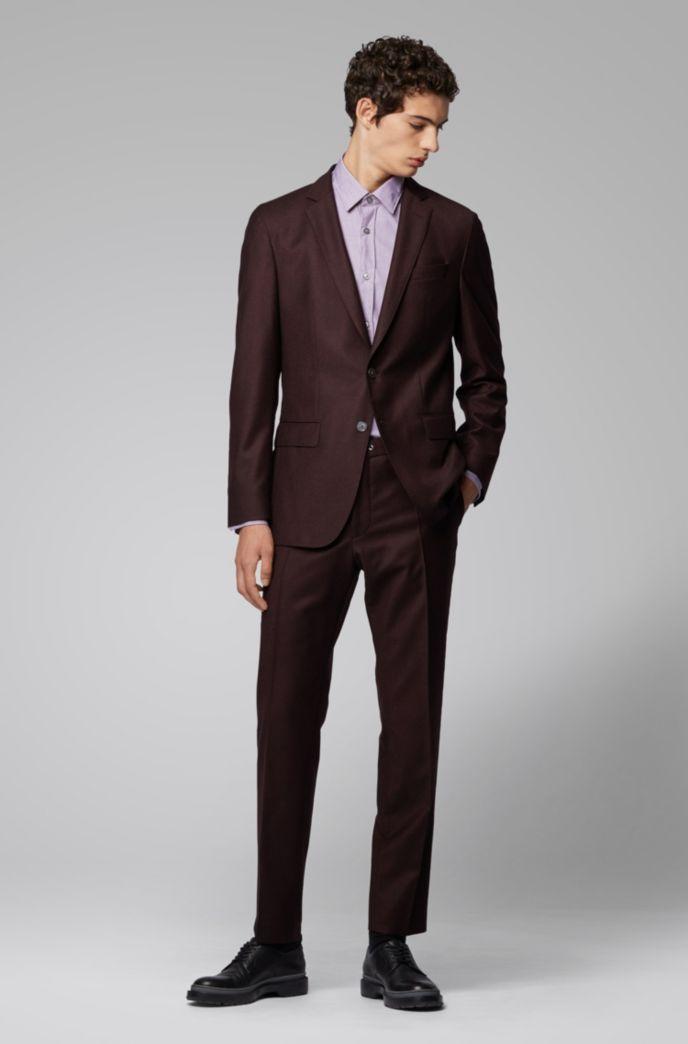 Slim-fit shirt in easy-iron fil á fil cotton