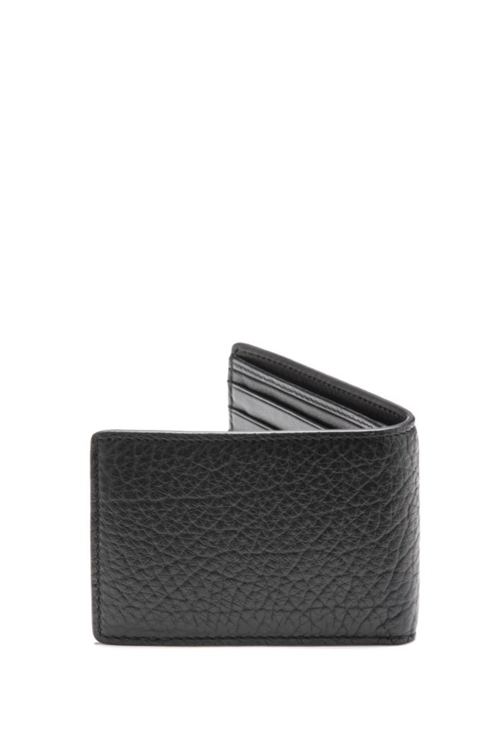 Buffalo-embossed leather billfold with 3D logo
