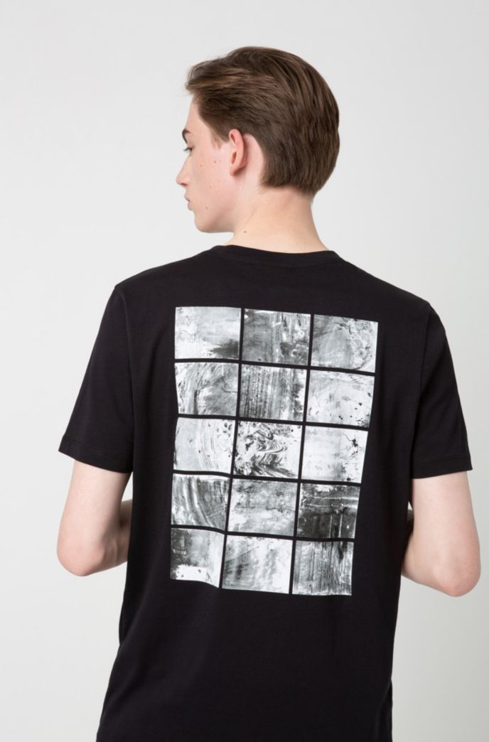 Regular-fit T-shirt with abstract back print