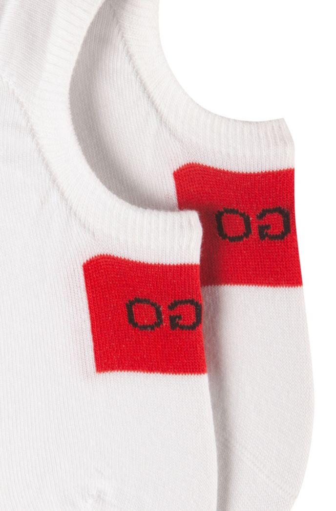 Two-pack of invisible socks with logo detail