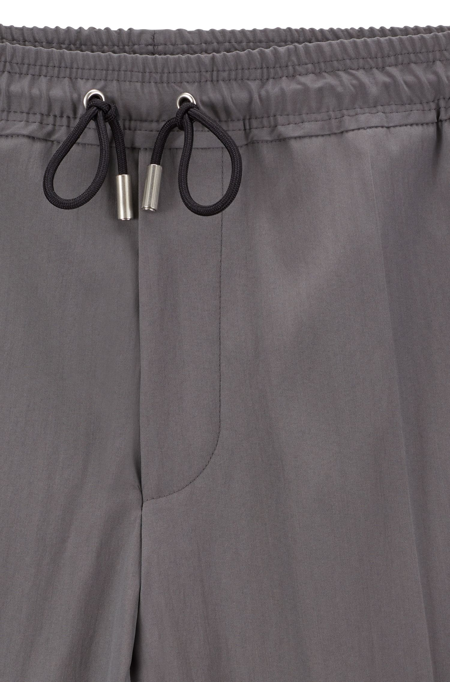 Fashion Show drawstring pants in a virgin-wool blend, Grey
