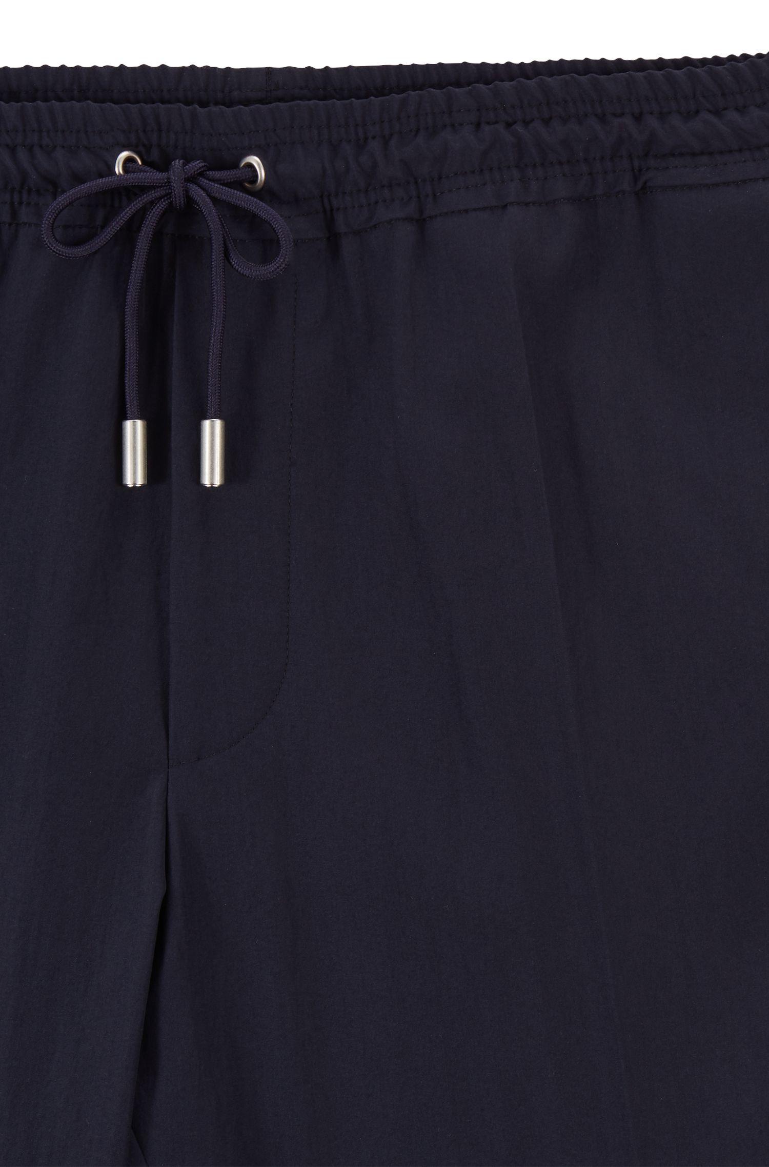 Fashion Show drawstring pants in a virgin-wool blend, Dark Blue
